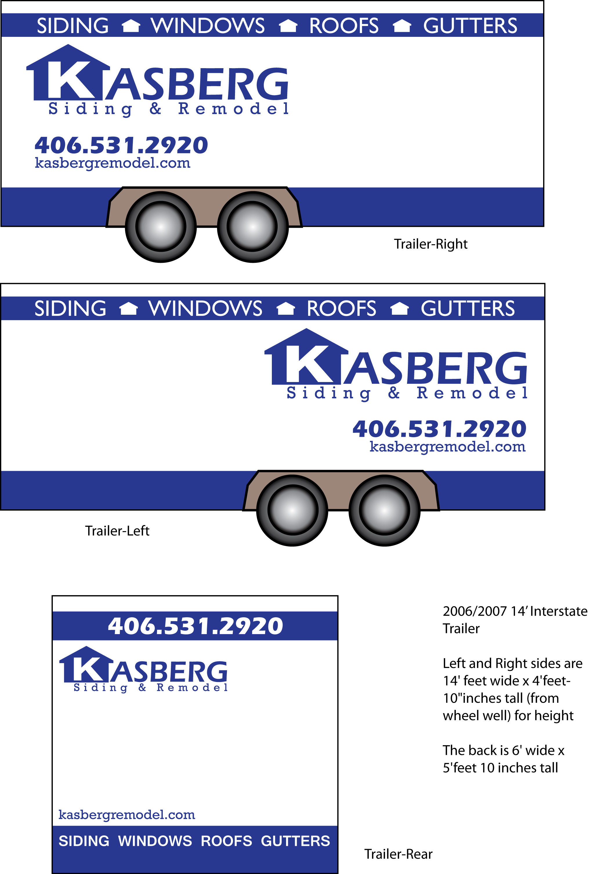 Vehicle Wrap Design, Trailer Wrap Design, Graphic Design